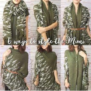 🌼Lularoe knit Mimi cobalt blue poncho